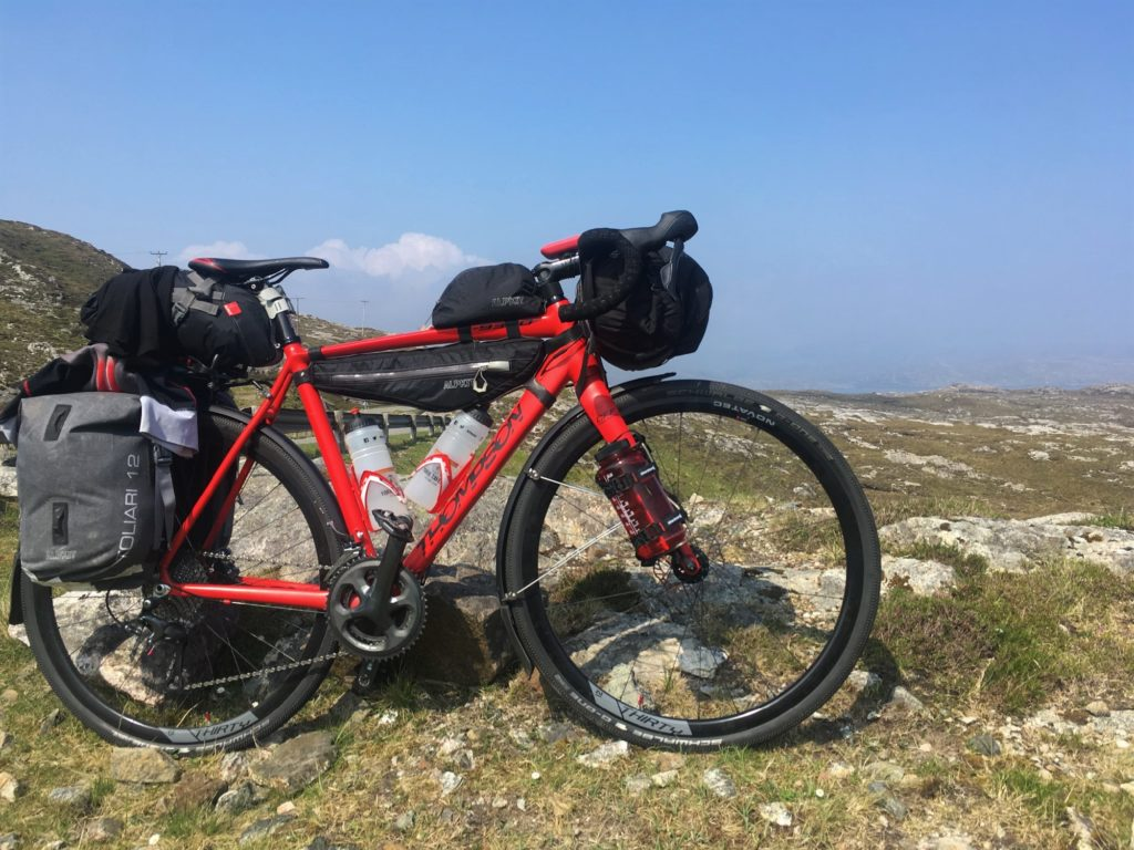 Thompson R9300 with Alpkit Luggage on the Hebridean Way