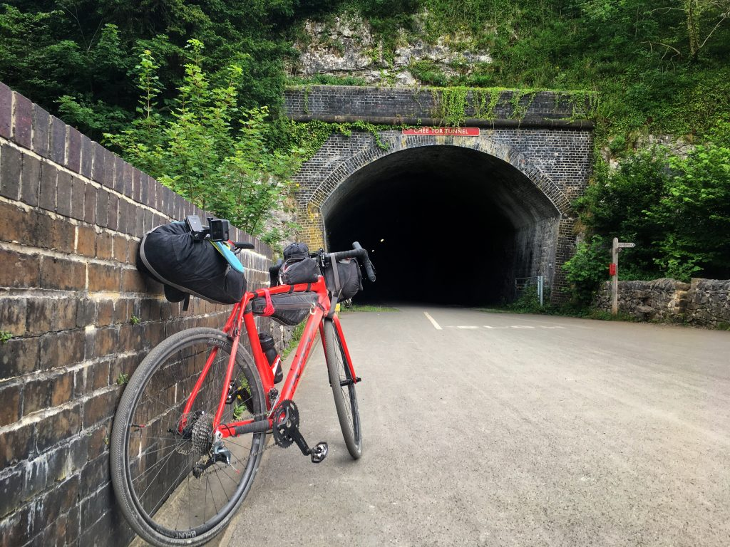Thompson R9300 in front of Chee Tor Tunnel on the Monsal Trail