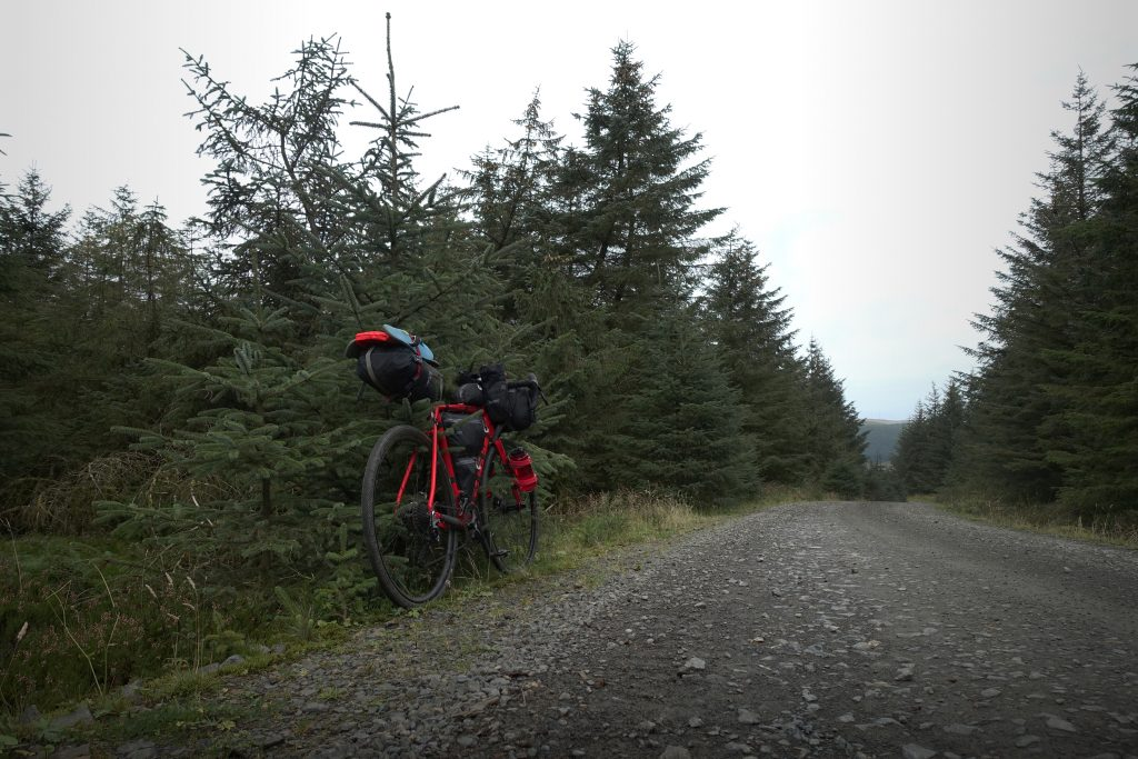 Thompson R9300 on a gravel track in the trees
